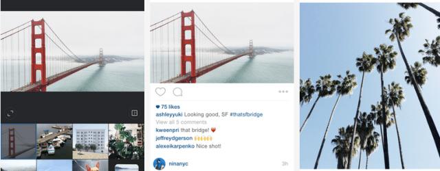 instagram no longer square