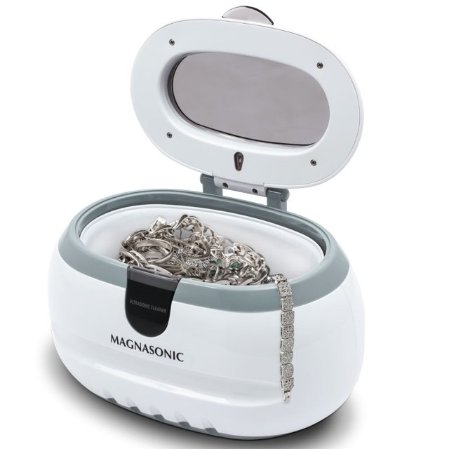meMagnasonic Professional Ultrasonic Polishing Jewelry Cleaner Machine for Cleaning Eyeglasses, Watches, Rings, Necklaces, Coins, Razors, Dentures, Combs, Tools, Parts, Instruments