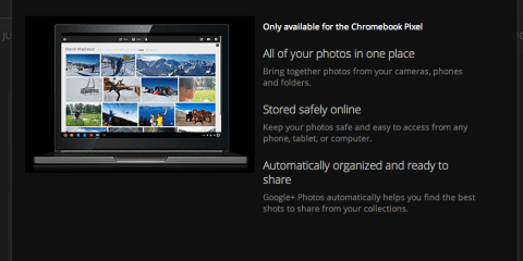 Google+ Photos ChromeBook Pixel