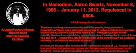 MIT Swartz Tribute by Anonymous