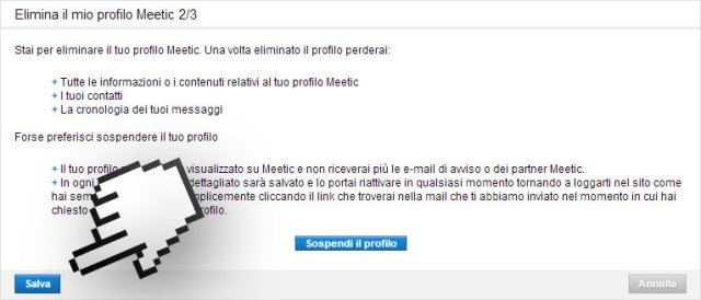 pornoitaliano web meetic come cancellarsi