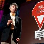 Gary Lauder's new traffic sign: Take Turns