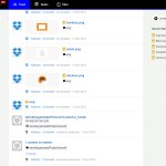 an activity feed consisting of Trello, Evernote, and Dropbox events.