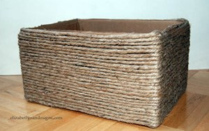 Box to Basket 4 Box to Basket DIY: Making a box into a basket Box to Basket 4