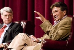 Musharraf at Univ of Stanford