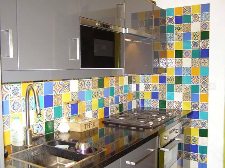 Mediterraanse tegeltjes 10x10 in keuken