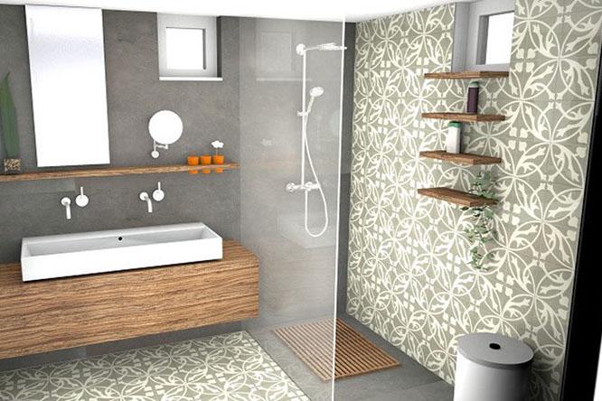 Best Kiezel Mozaiek Badkamer Contemporary - New Home Design 2018 ...