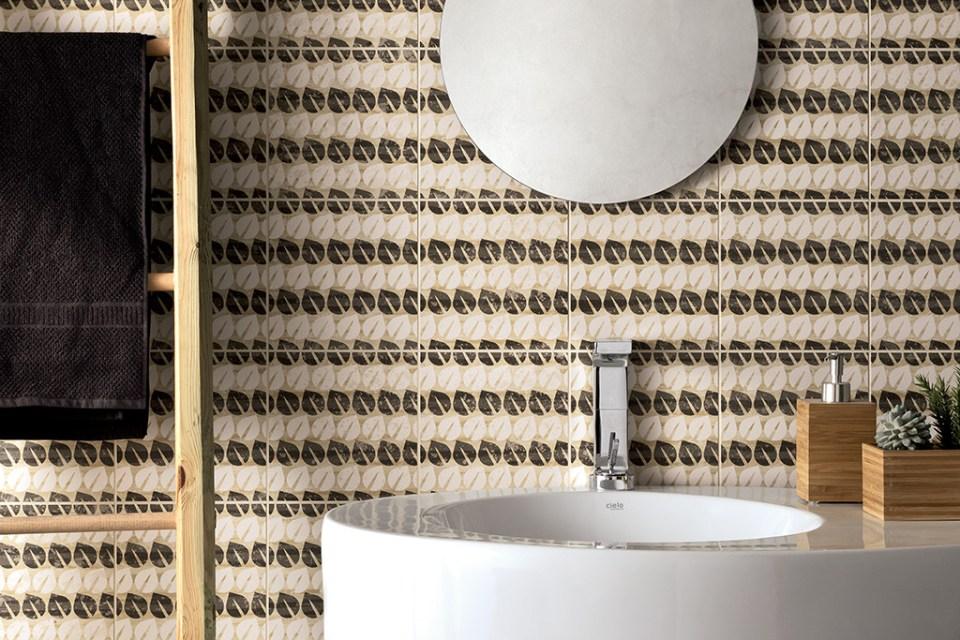 keramische patroontegel retrostijl