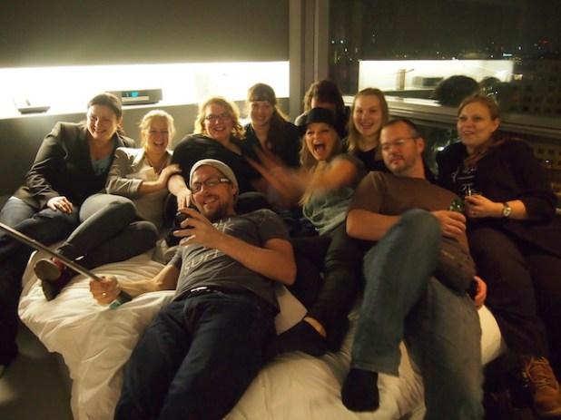 Ganz viele Blogger aufm Bett ;)