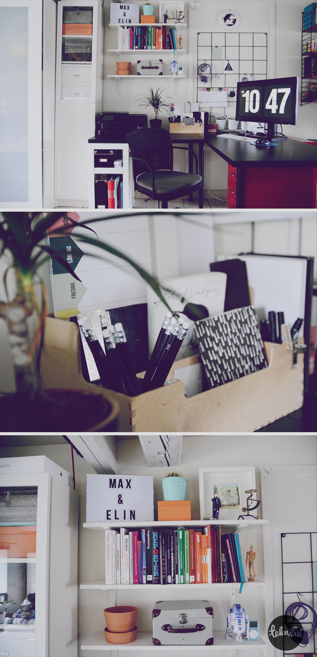 home office scandinavian black iron mesh organizer