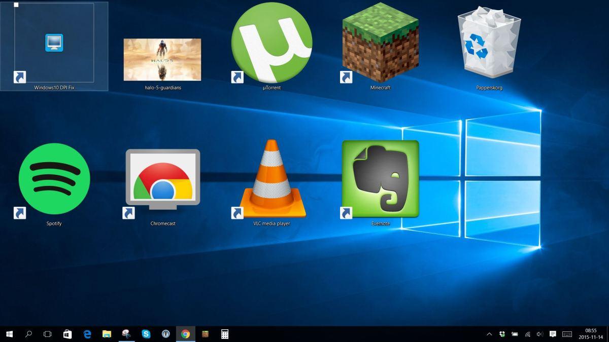 Windows 10: Så ändrar du storlek på skrivbords-ikonerna