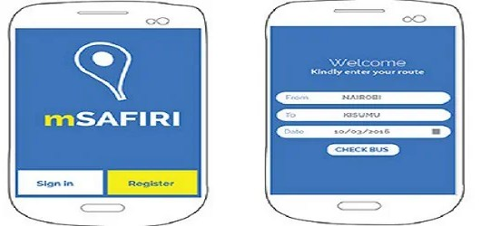 booking app interface