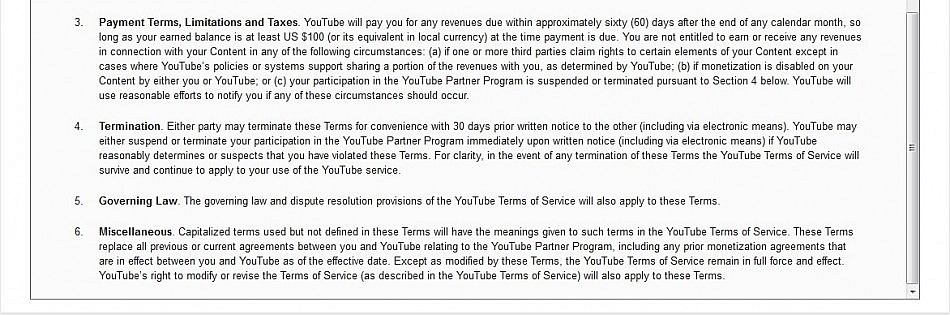 reading the youtube terms of service 8