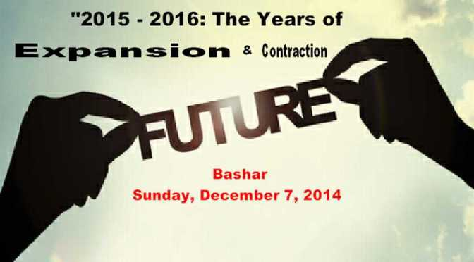 """Bashar – """"2015 – 2016: The Years of Expansion and Contraction"""""""