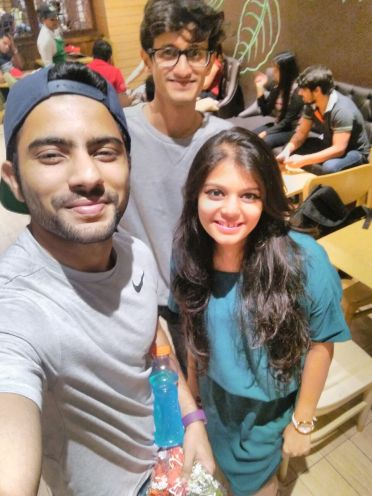 Kunal Rajput with Team Tell Me Nothing's founder Nikhil Malankar and partner Shweta Shah