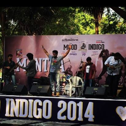 Music Sensation : Ashmik Patil with his band at Mood Indigo Festival, 2014