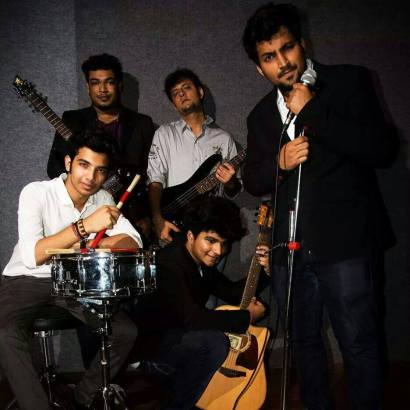 Music Sensation : Ashmik Patil posing with his band