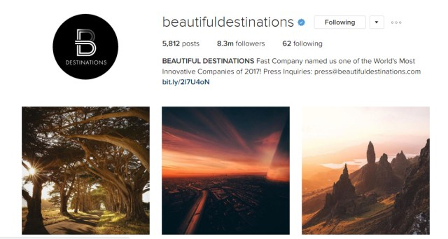 Beautiful Destinations Awesome Instagram Profiles