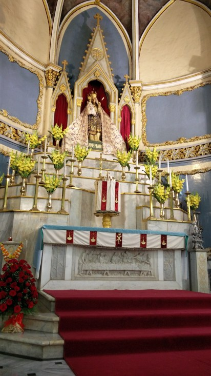 Mother Mary with Lord Jesus Christ at Mount Mary Church, Bandra, Mumbai
