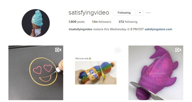 Satisfying Video Awesome Instagram Profiles