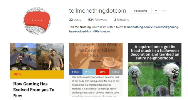 Tell Me Nothing Awesome Instagram Profiles