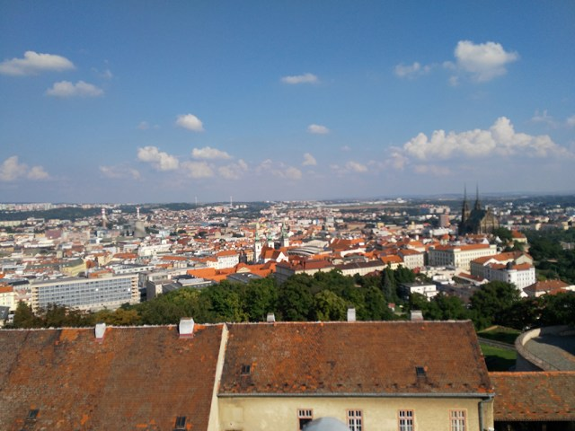 View from top of the Špilberk Castle in Brno Czech Republic