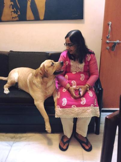 Shilpi Dey's Mother With Their Pet Tyson
