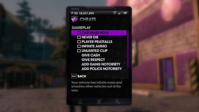 saints row, saints row cheats, srtt cheats, srtt, srtf