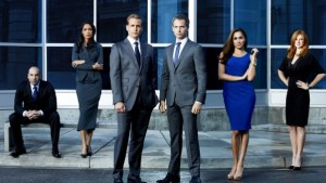 Donna, Jessica, Mike, Harvey, Rachel, Louis, Suits