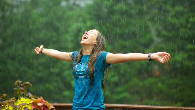 happy, happy about rain , rain, happy girl, monsoon