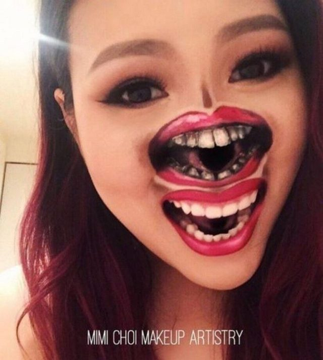 makeup, art, optical illusion, canada, bizarre