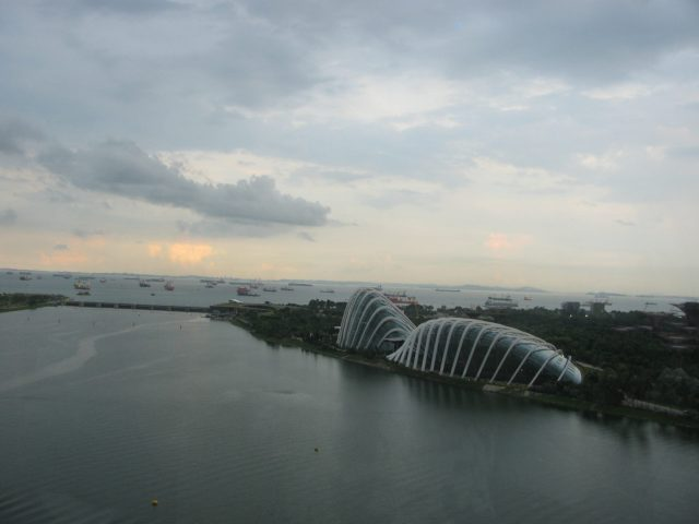 must visit places in singapore , view from singapore flyer.