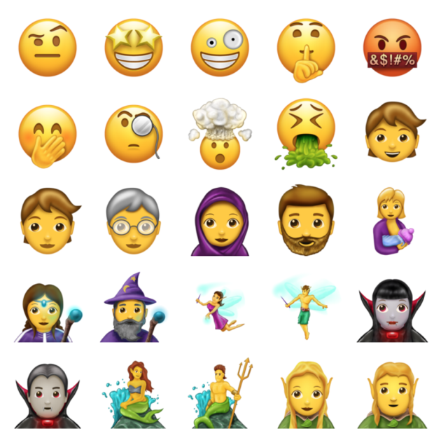 words, express, emotions, chatting, emoji, social, text, emojis, subtle, surplus, Instagram, USA Today, 56, Unicode Consortium, Unicode 10.0, Typicon, Bitcoin, Mitchell Stephens, Puking, Confusion, Emojipedia, Tinkerbell, pretzels, vampiries, fairies, genies, witches