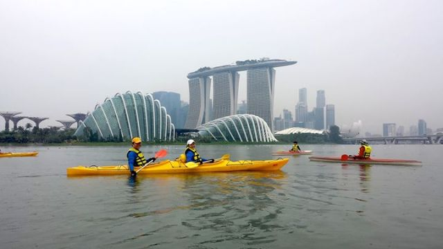 must visit places in singapore , kayaking