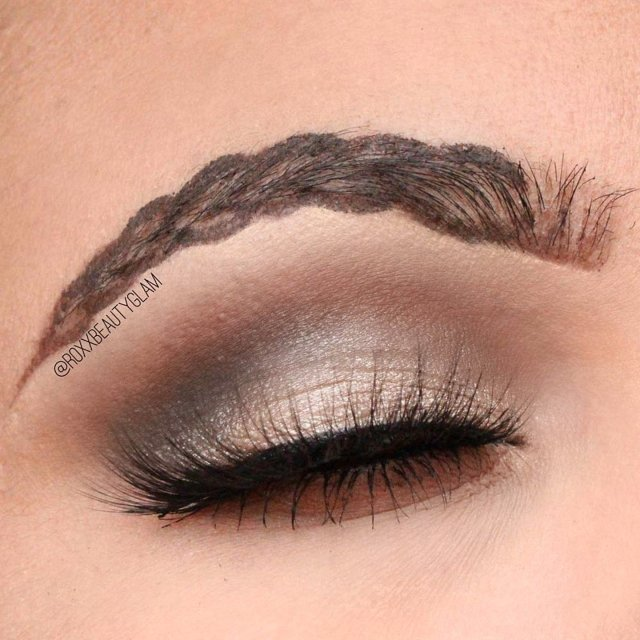 braided, eyebrows, borw, trend, feather brows, squiggle brows, wavy brow, hair, beauty, Eros Gomez, makeup artist, edited, viral, Instagram, posted, comments, Allure, bloggers, plait, Photoshop