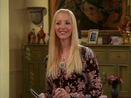 character, Phoebe, happy, situation, positive