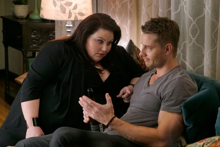 THIS IS US -- Pilot -- Pictured: (l-r) Chrissy Metz as Kate, Justin Hartley as Kevin -- (Photo by: Paul Drinkwater/NBC)