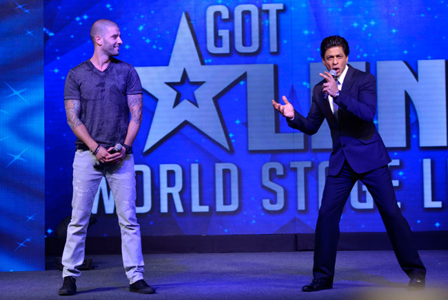 Shahrukh Khan at the launch of  Got Talent World Stage Live