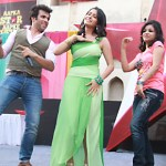 Rithvik and Asha in a dance move