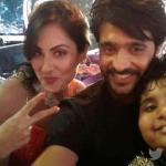 Akshat, Puja and Ashish posing a Selfie