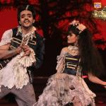 Ashish and Shampa dances as Ghosts/Zombies/Vampires