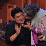 Daadi showering her Shagun ki Pappi to Sajid Khan