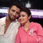 Mouni with her choreographer - Puneet