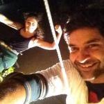 Purab with her choreographer Mohena - Aerial stunt