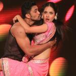 Puja dances in tollywood style with her partner Rajit
