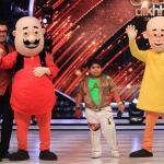 Akshat with characters Motu and Patlu