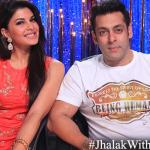 Salman and Jaqueline having a good time on Jhalak