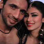 Mouni with her dance partner Puneet selfie