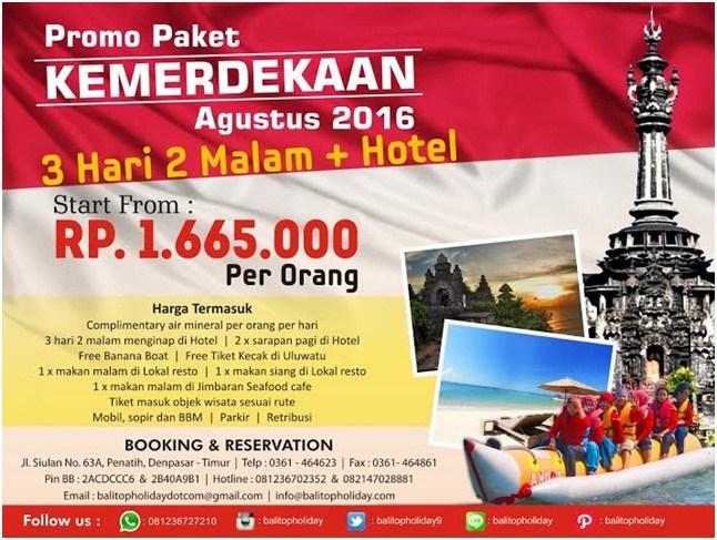 Promo Tour Bali Agustus 2016