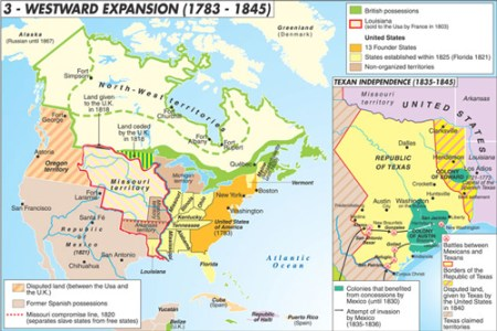 map expansion of the united states images